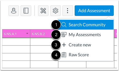 View Assessment Options