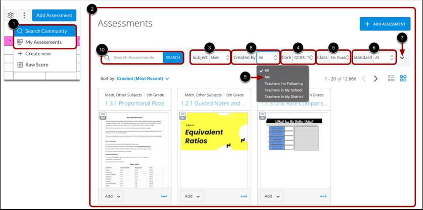View Assessment Community