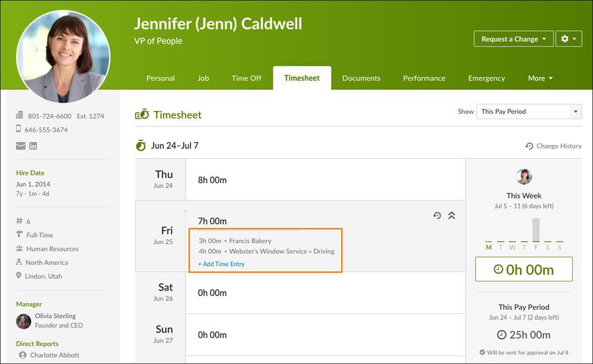 Jenn Caldwell - Timesheet