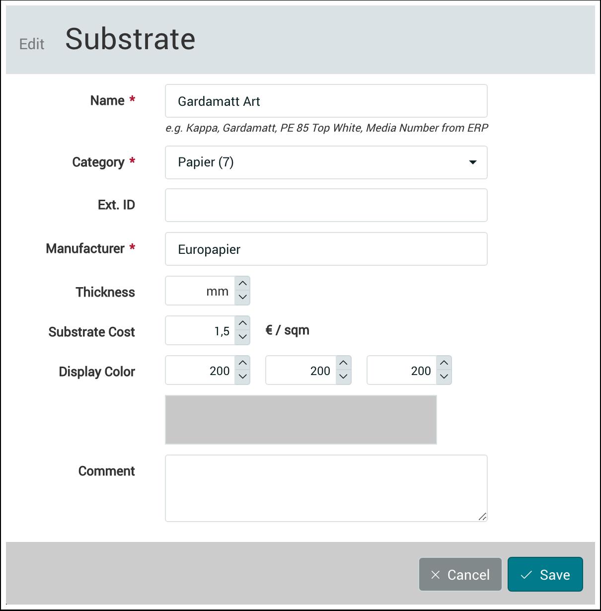 PMS WebGui :: Workflow Substrates