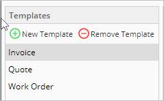 Templates menu