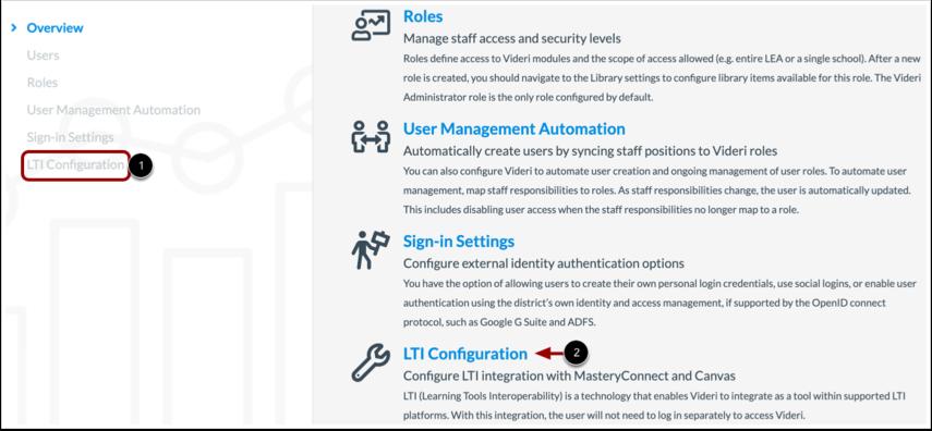 Open LTI Configuration