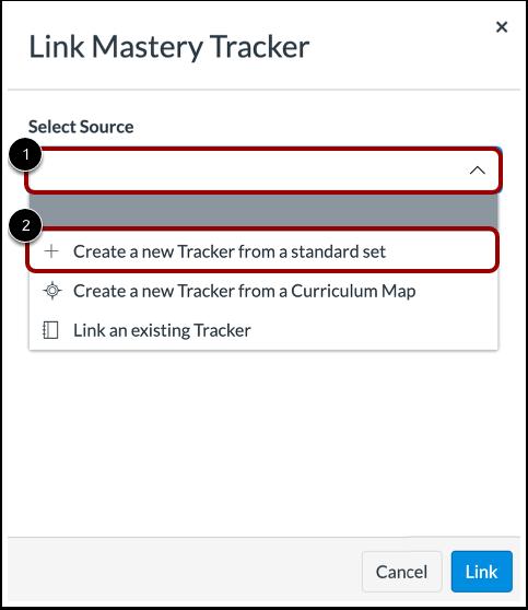 Select Linking Option