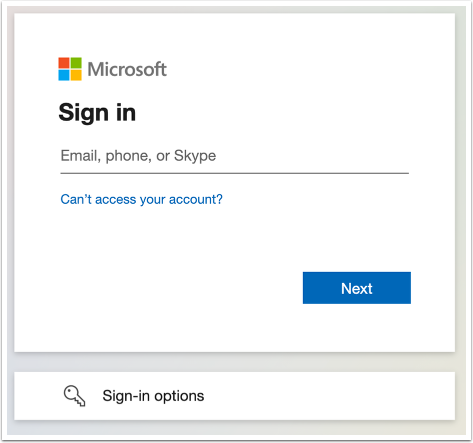 Log In to Microsoft