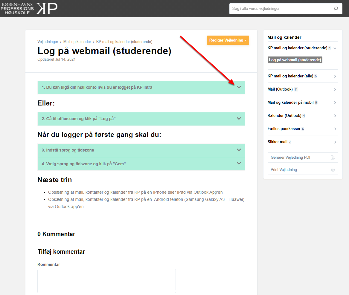 Log på webmail (studerende)   Mail og kalender   Vejledninger – Google Chrome