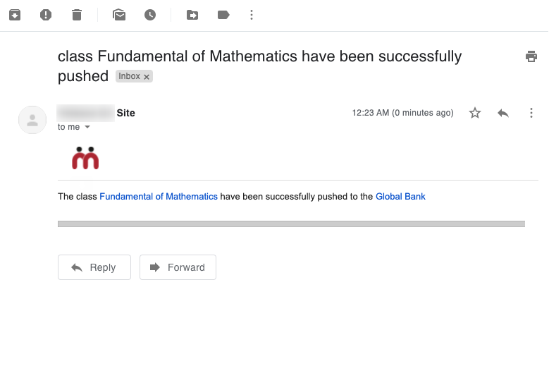 class Fundamental of Mathematics have been successfully pushed - nikhil@theteamie.com - Teamie Pte Ltd Mail