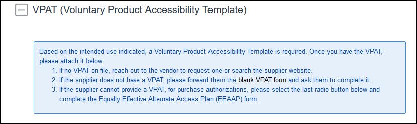 VPAT section