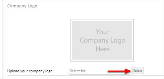 uploading a company logo