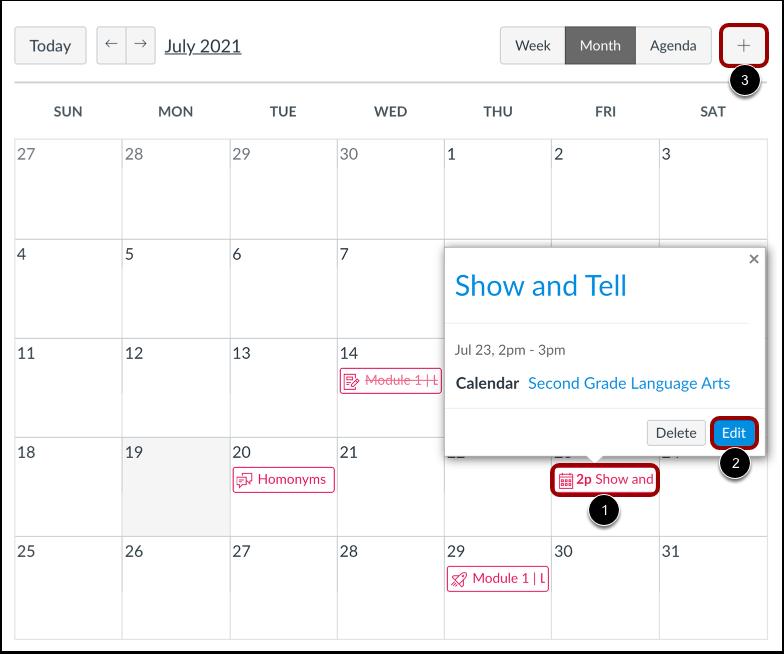 Open Calendar Item