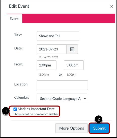 Manage Calendar Event
