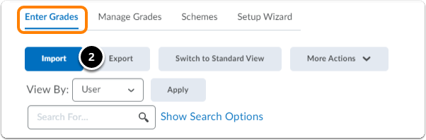 While in Enter grades tab, click on Export