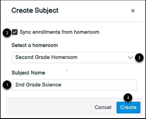 Create Subject