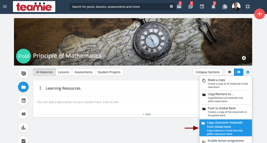 (3) Materials   Principle of Mathematics   Teamie Next