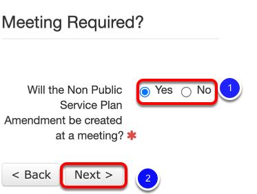 IEP Wizard Amendment Meeting Question