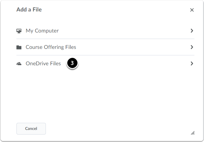 click on OneDrive Files
