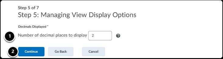 Managing View Display Options