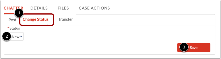 Change Case Status