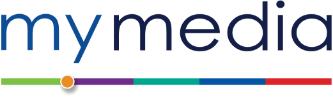 Mediasite logo of blue media and black site lettering