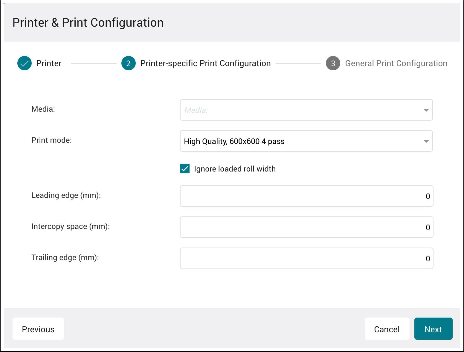 PMS WebGui :: Printer Setup