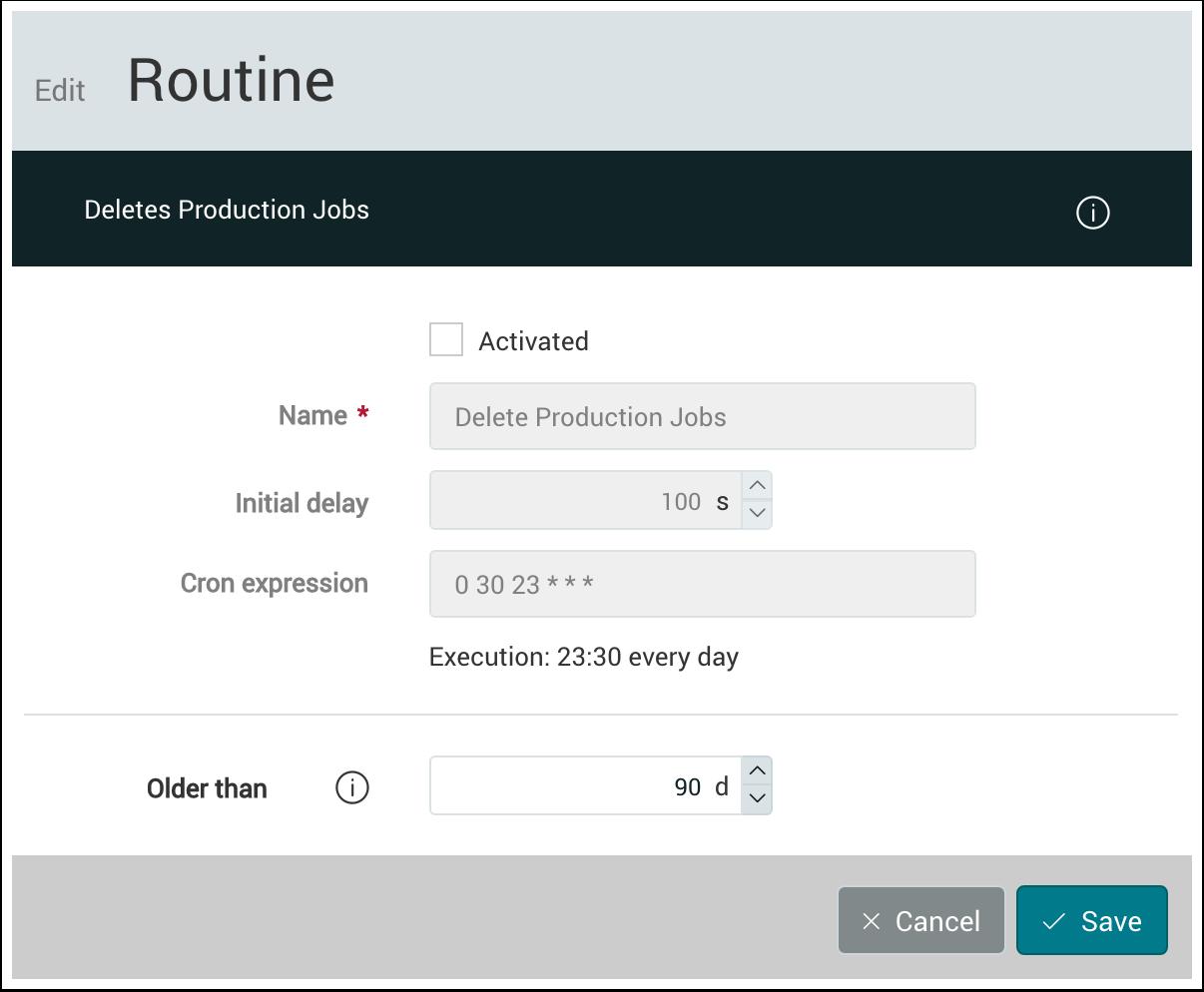 PMS WebGui :: Routines