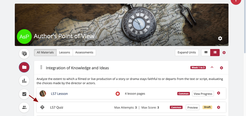 Materials | Author's Point of View | SAS