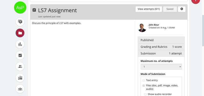 LS7 Assignment | SAS
