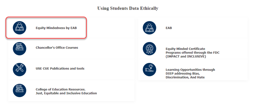 Using Student Data Ethically  section