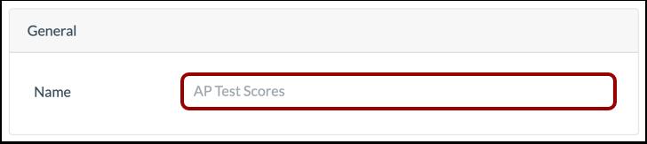 Enter Assessment Source Name