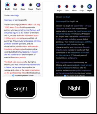 Image gradient options example