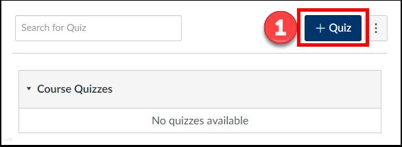 """Click """"+Quiz"""""""