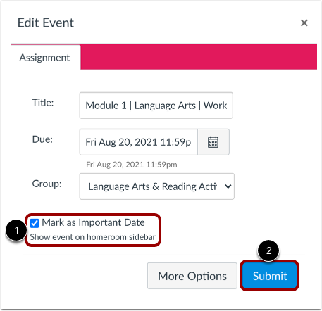 Manage Assignment or Graded Discussion