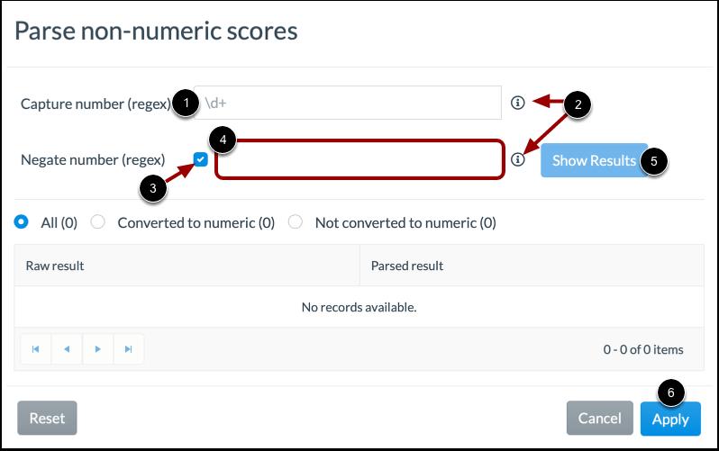 Configure Non-Numeric Scores