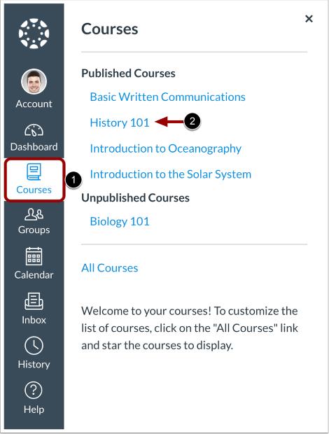 Ouvrir un cours