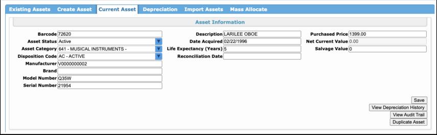 Manage Assets