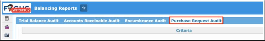 Balancing Reports