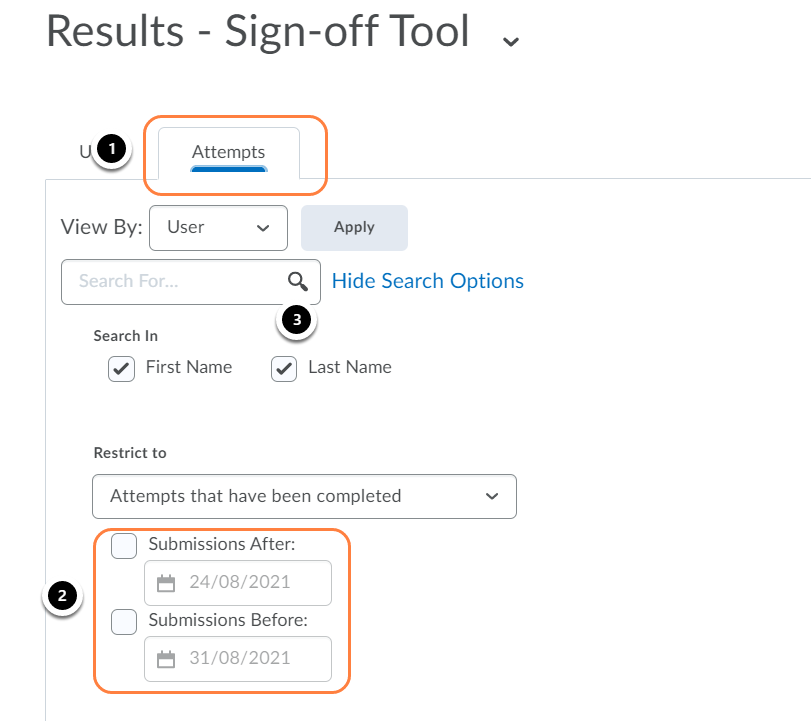 Results - Sign-off Tool - Brightspace Sample Course - Leiden University - Google Chrome