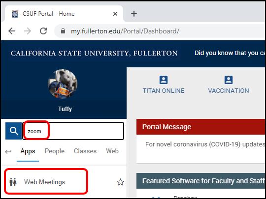 Web Meetings portal app