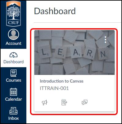 Canvas dashboard
