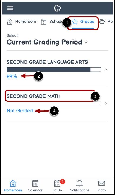 View Homeroom Grades