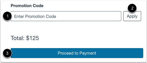Enter Payment Promotion Code