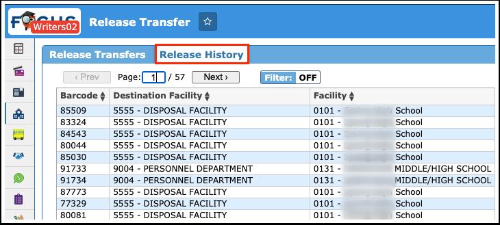 Release Transfer
