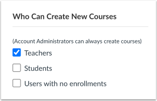 View Who Can Create New Courses