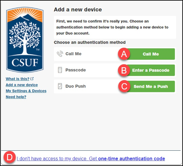 add new device prmpting you to authenticate first