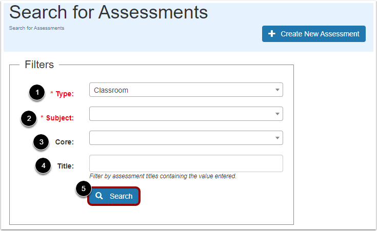 Search Assessments