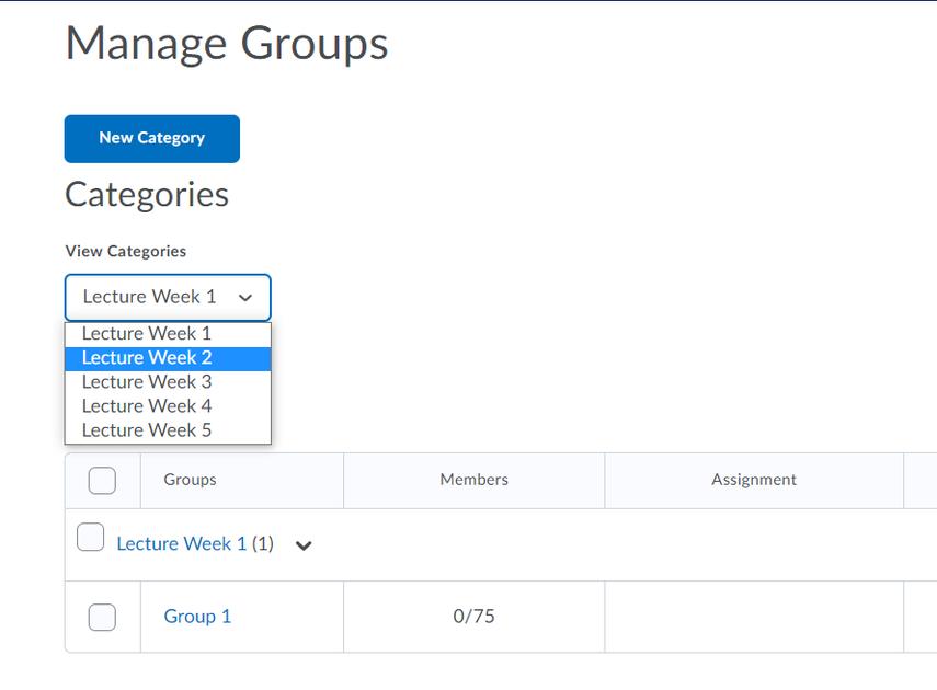 Manage Groups - Brightspace Sample Course - Leiden University - Google Chrome