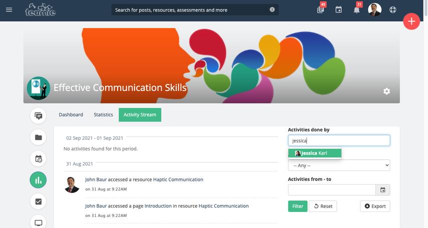 (21) Activity Stream | Effective Communication Skills | Training Demo