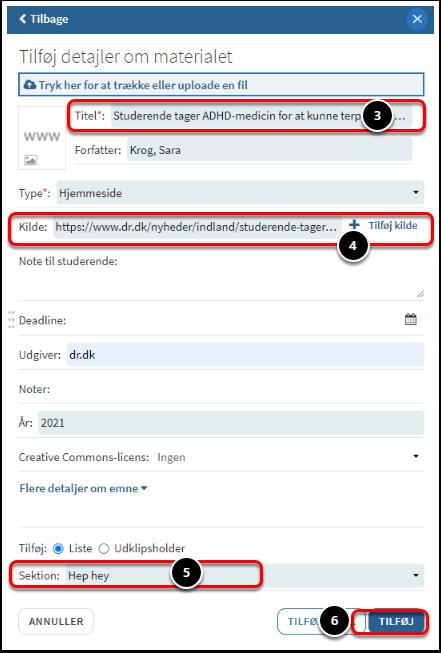 Test af Leganto på baggrund af testscenarier / Usecases | Microsoft Teams