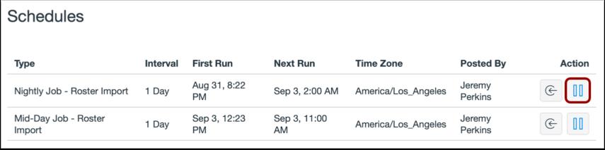 Pause Schedule