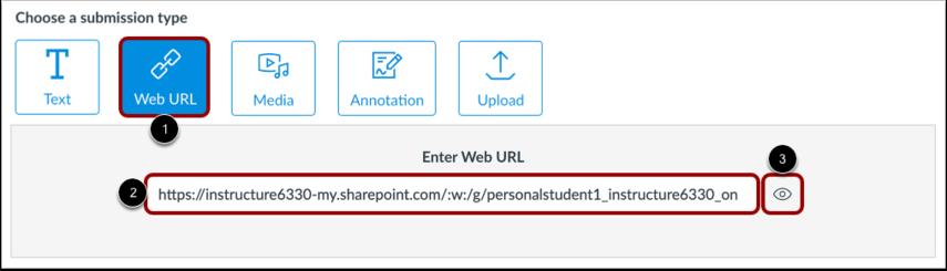 Submit Office 365 URL
