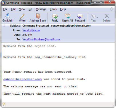 Here is an example of the email that you will receive from our system: